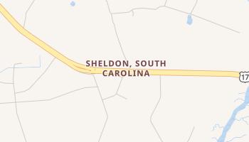 Sheldon, South Carolina map