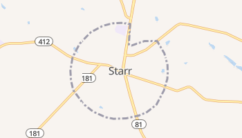 Starr, South Carolina map