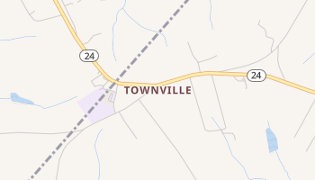 Townville, South Carolina map