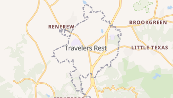 Travelers Rest, South Carolina map