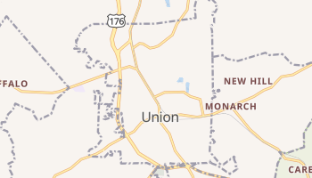 Union, South Carolina map