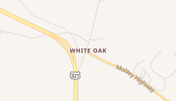 White Oak, South Carolina map