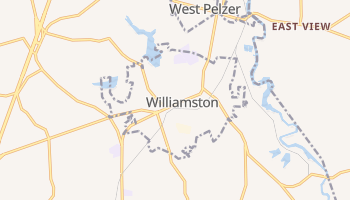Williamston, South Carolina map