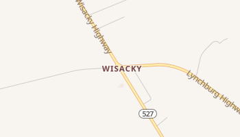 Wisacky, South Carolina map