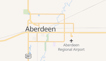 Aberdeen, South Dakota map