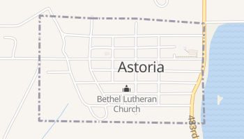 Astoria, South Dakota map