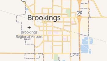 Brookings, South Dakota map