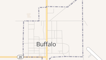 Buffalo, South Dakota map