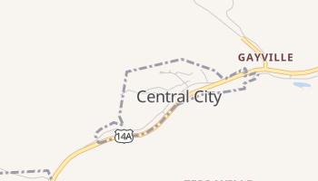 Central City, South Dakota map