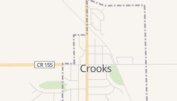 Crooks, South Dakota map