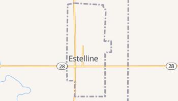 Estelline, South Dakota map
