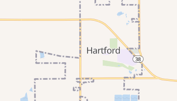 Hartford, South Dakota map