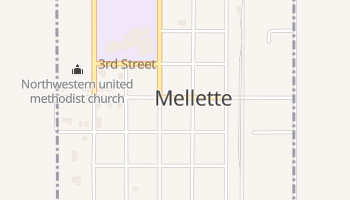 Mellette, South Dakota map