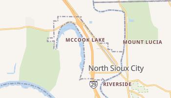 North Sioux City, South Dakota map