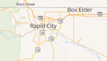 Rapid City, South Dakota map