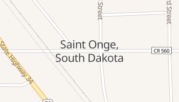 Saint Onge, South Dakota map
