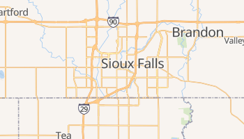 Sioux Falls, South Dakota map