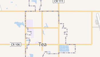 Tea, South Dakota map