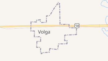 Volga, South Dakota map