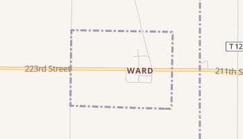 Ward, South Dakota map