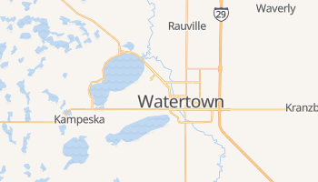 Watertown, South Dakota map