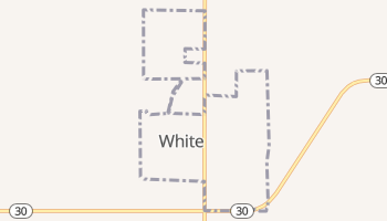 White, South Dakota map