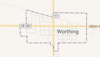 Worthing, South Dakota map