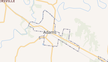 Adams, Tennessee map