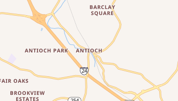 Antioch, Tennessee map