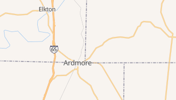Ardmore, Tennessee map