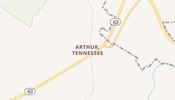 Arthur, Tennessee map