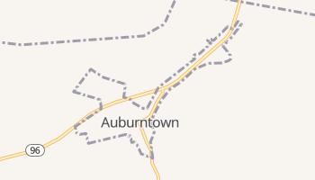 Auburntown, Tennessee map