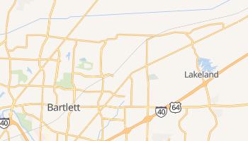 Bartlett, Tennessee map