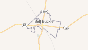 Bell Buckle, Tennessee map
