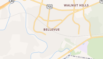 Bellevue, Tennessee map