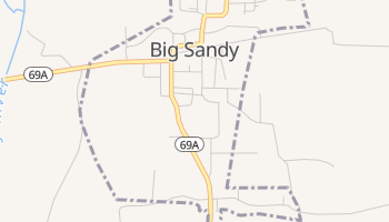 Big Sandy, Tennessee map