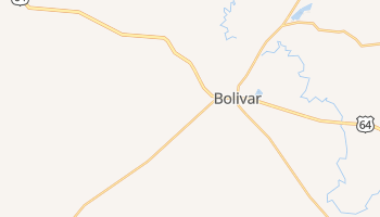 Bolivar, Tennessee map