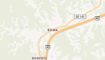 Boma, Tennessee map