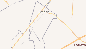 Braden, Tennessee map