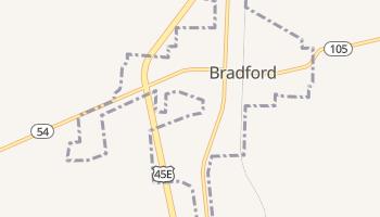 Bradford, Tennessee map