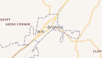 Brighton, Tennessee map