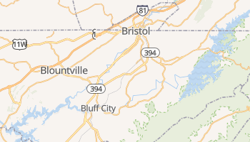 Bristol, Tennessee map