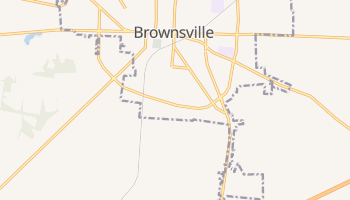 Brownsville, Tennessee map
