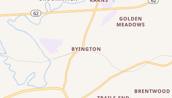 Byington, Tennessee map