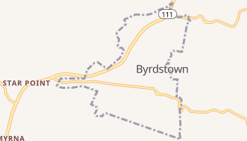 Byrdstown, Tennessee map