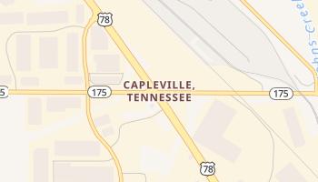 Capleville, Tennessee map
