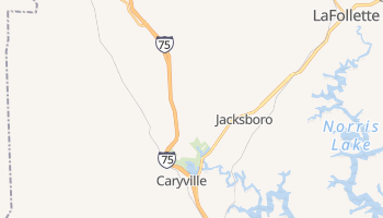 Caryville, Tennessee map