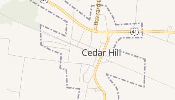 Cedar Hill, Tennessee map
