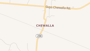 Chewalla, Tennessee map