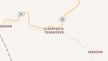 Clairfield, Tennessee map